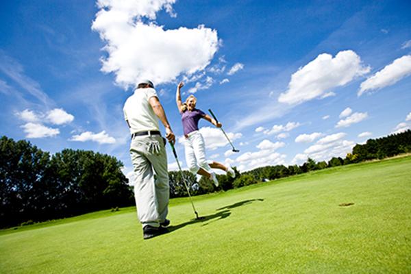 Golf Jubel Sprung